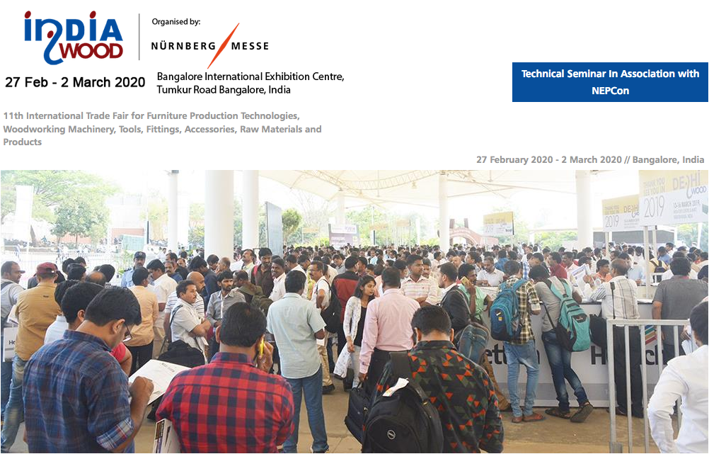 Indiawood 2020 fair in Bangalore (India)